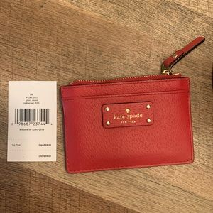 Red Kate Spade Card Wallet